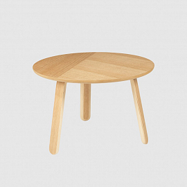 Стол Gubi Paper Coffee Table, Ø60, дуб