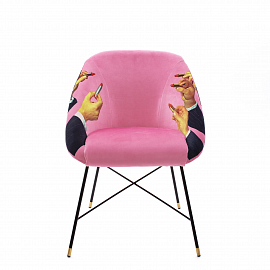 "Стул Seletti Padded Chair ""Lipsticks Pink"""