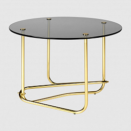 Стол Gubi Mategot Coffee Table, дымчатое стекло