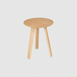 Стол Gubi Paper Coffee Table, Ø42, дуб